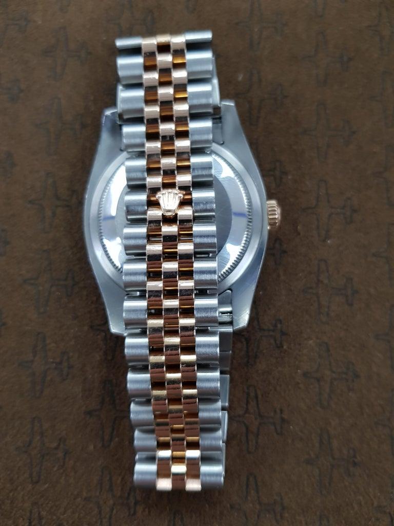 Contemporary Rolex Datejust, Bi-Metal, Model Number 116231, Registered 2009 For Sale