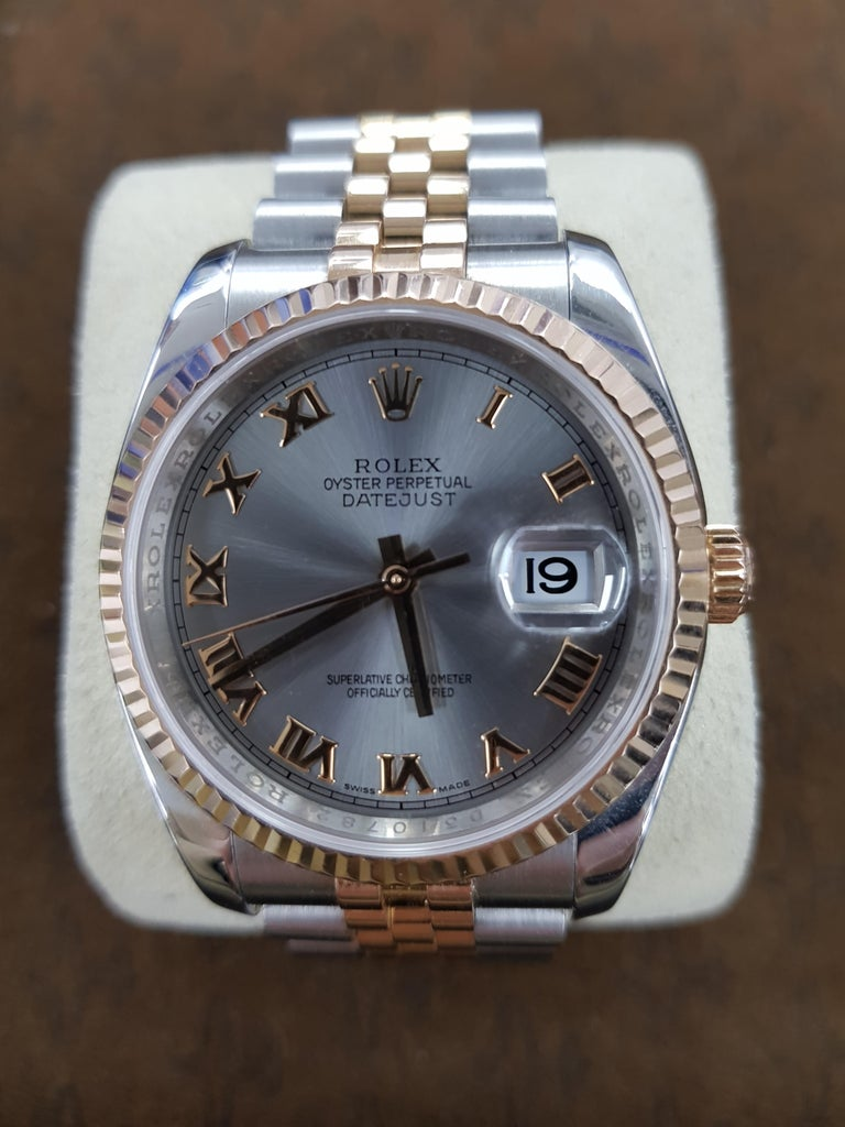 Rolex Datejust, Bi-Metal, Model Number 116231, Registered 2009 In Excellent Condition For Sale In London, GB