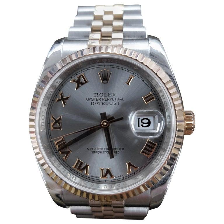 Rolex Datejust, Bi-Metal, Model Number 116231, Registered 2009 For Sale
