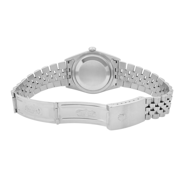 Rolex Datejust Black Dial Steel & 18K White Gold Automatic Men's Watch 16234 3