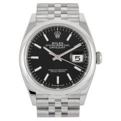 Rolex Datejust Black Dial Watch 126200