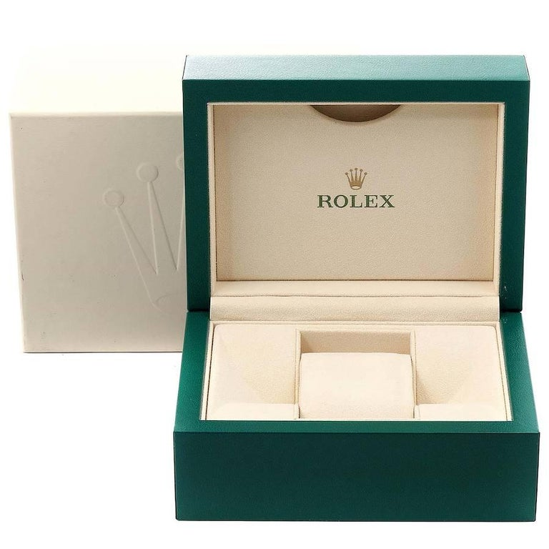 Rolex Datejust Black MOP Diamond Dial Bezel Steel Men's Watch 116244 Box For Sale 8