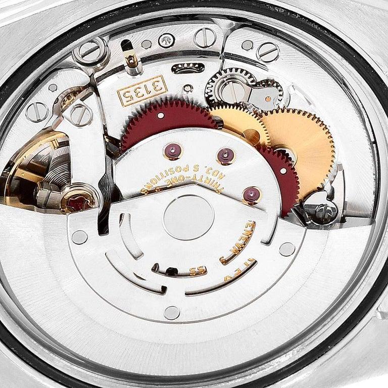 Rolex Datejust Black MOP Diamond Dial Bezel Steel Men's Watch 116244 Box For Sale 5