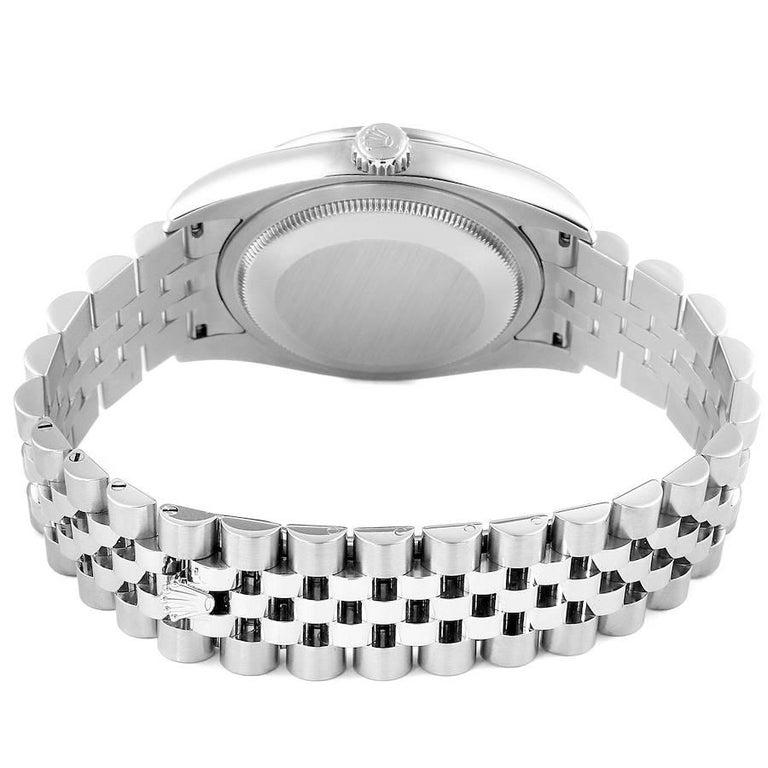 Rolex Datejust Black MOP Diamond Dial Bezel Steel Men's Watch 116244 Box For Sale 6