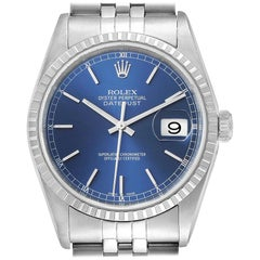 Rolex DateJust Blue Dial Jubilee Bracelet Steel Men's Watch 16220