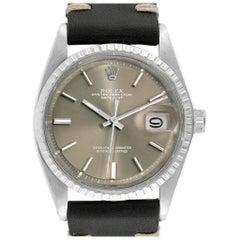 Rolex Datejust Bronze Dial Brown Leather Vintage Men's Watch 1603