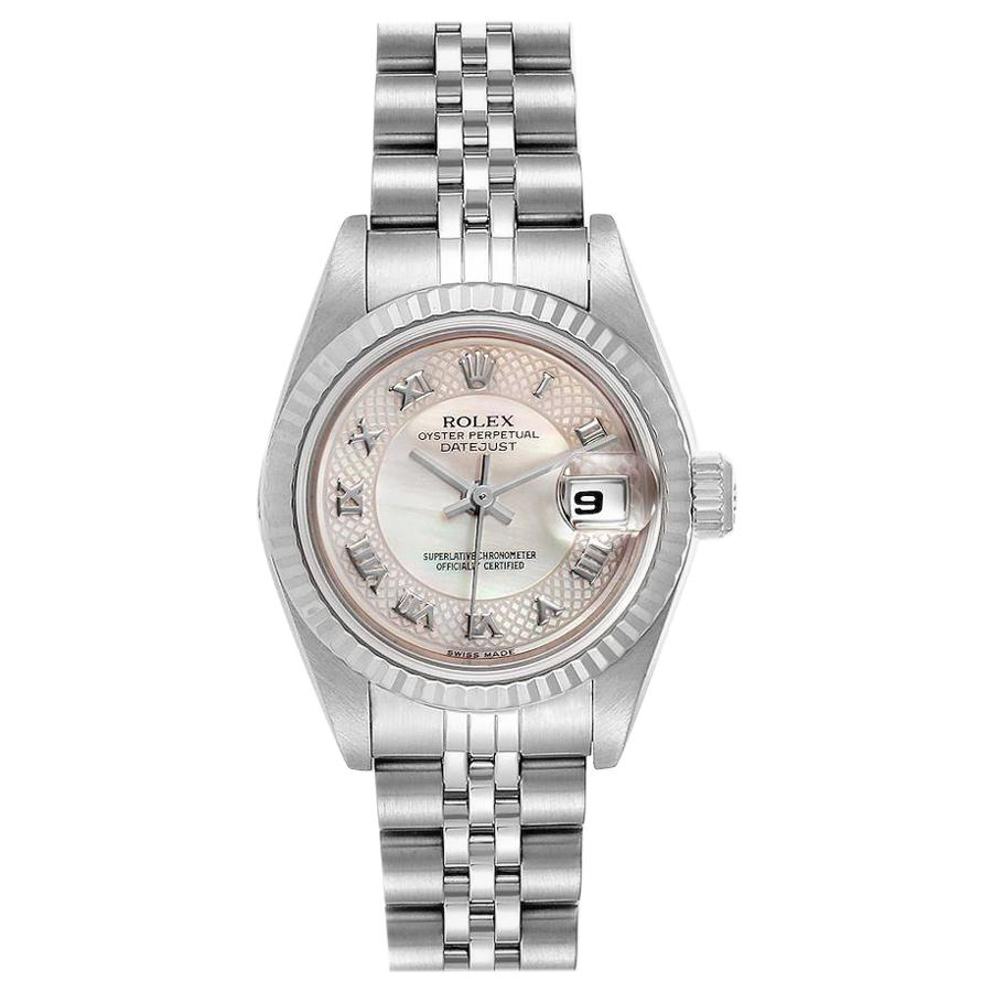 Rolex Datejust Decorated Mother of Pearl Dial Ladies Watch 79174