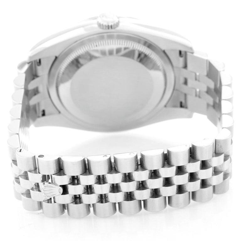 Rolex Datejust Diamond Bezel Men's Steel Watch 116244 In Excellent Condition For Sale In Dallas, TX