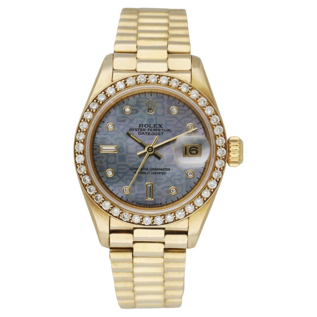 Rolex Datejust Diamond Dial 69138 Ladies Watch Box & Papers