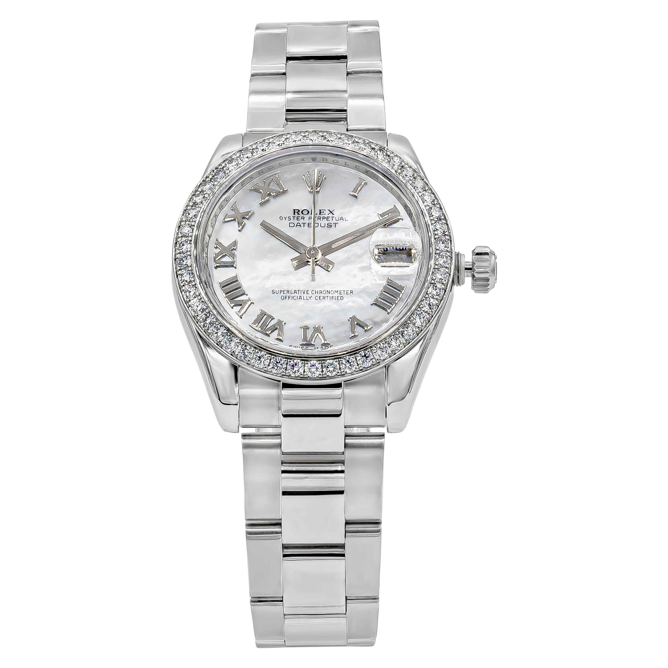 Rolex Datejust Diamond Mother of Pearl Ladies Watch Ref. 178384
