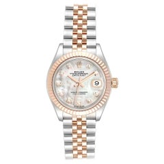 Rolex Datejust EveRose Rolesor Mother of Pearl Diamond Dial Ladies Watch 279171