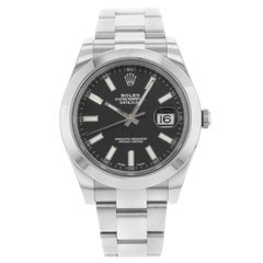 Rolex Datejust II 116300 bkio Black Stick Dial Steel Automatic Men's Watch