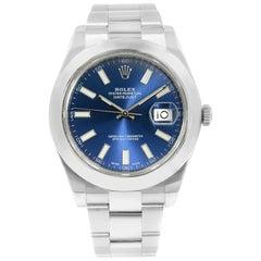 Rolex Datejust II 116300 Blue Stick Dial Steel Automatic Men's Watch