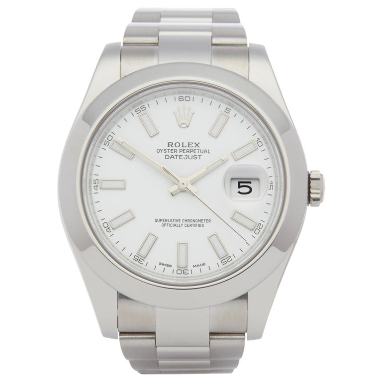 Rolex Datejust II 116300 Men Stainless Steel Watch For Sale