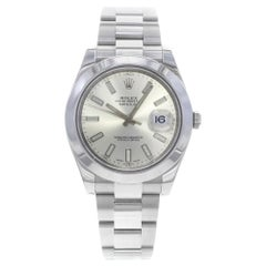 Rolex Datejust II 116300 Silver Index Dial Steel Automatic Men's Watch