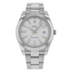 Rolex Datejust II 116300 Wio White Index Dial Steel Automatic Men's Watch