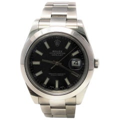 Rolex Datejust II 116300 with Band and Black Dial