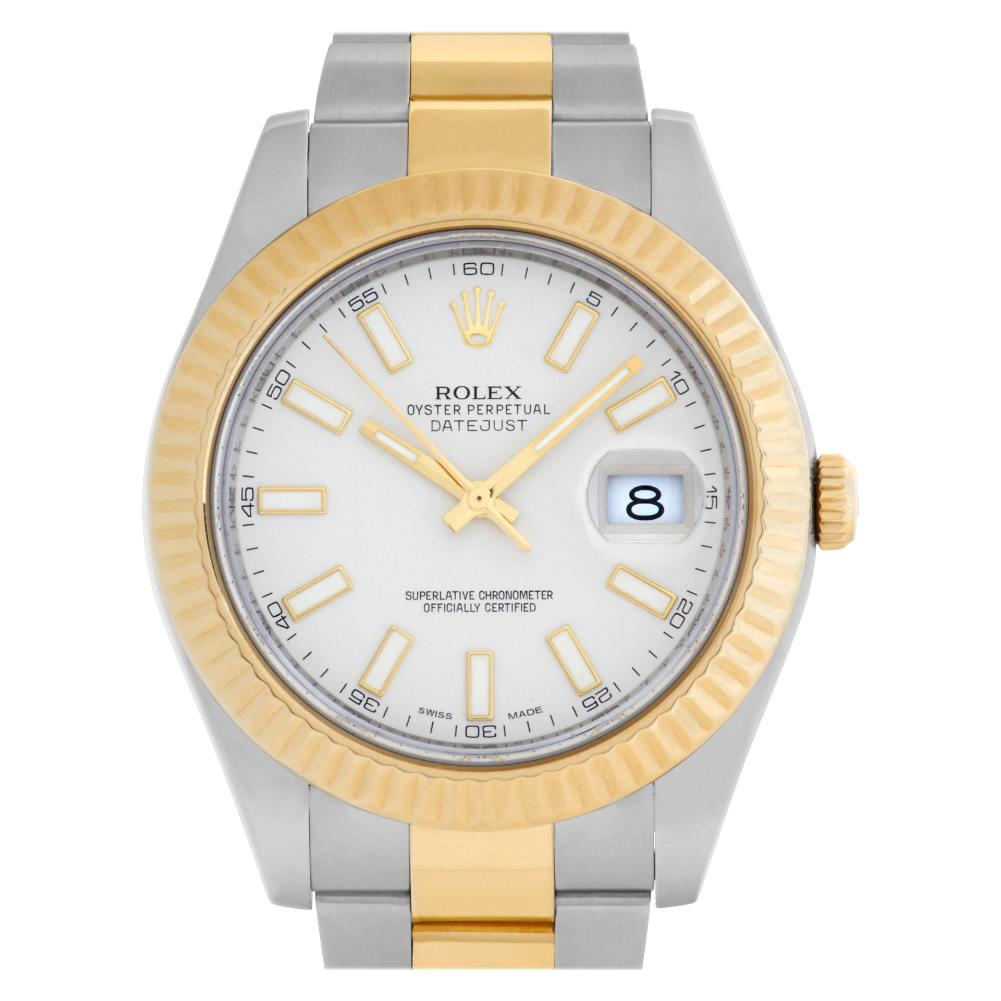 Rolex Datejust II 116333 18 Karat and Stainless Steel Ivory Dial Automatic Watch