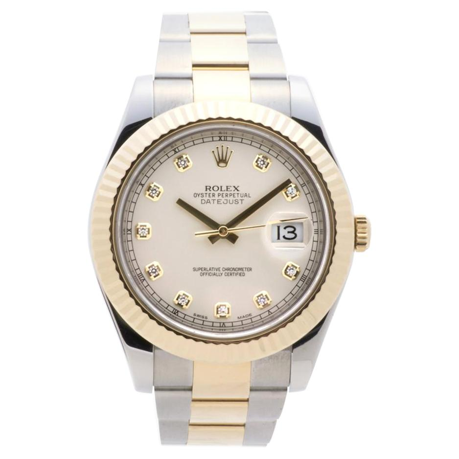 Rolex Datejust II 116333, Blue Dial, Certified and Warranty