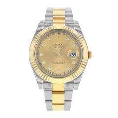 Rolex Datejust II 116333 Chdo 18 Karat Yellow Steel Automatic Men's Watch