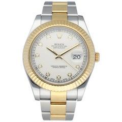 Rolex DateJust II 116333 Diamond Dial Men's Watch Box Papers