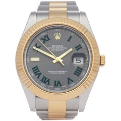 Rolex Datejust II 116333 Men's Stainless Steel and Yellow Gold Wimbledon Watch