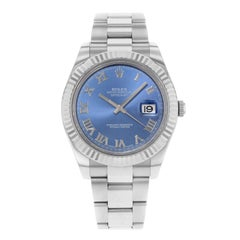 Rolex Datejust II 116334 Blro 18 Karat White Gold Steel Automatic Men's Watch