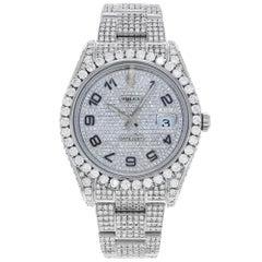 Rolex Datejust II 116334 Custom Diamonds 20 Carat Arabic Steel Automatic Watch