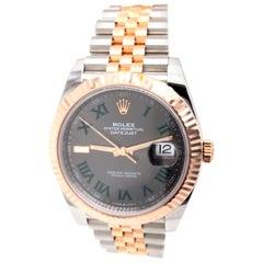 Rolex DateJust II 41 Jubilee Two-Tone Rose Gold & Steel Wimbledon Jubilee Fluted