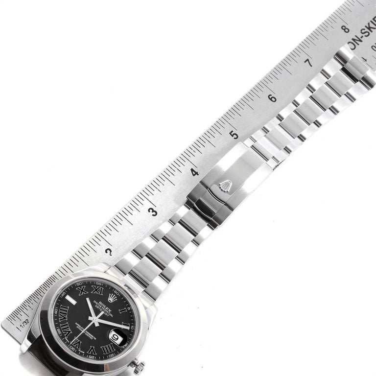 Rolex Datejust II Grey Dial Oyster Bracelet Steel Men's Watch 116300 For Sale 7