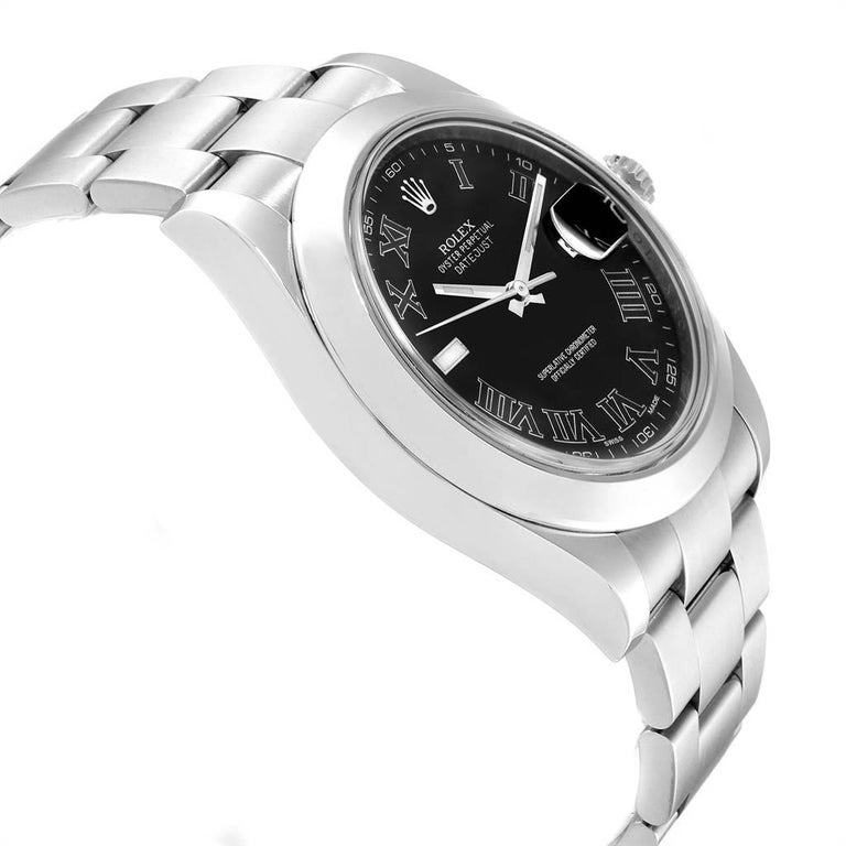 Rolex Datejust II Grey Dial Oyster Bracelet Steel Men's Watch 116300 In Excellent Condition For Sale In Atlanta, GA