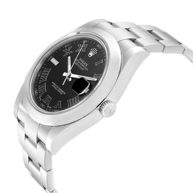 Rolex Datejust II Grey Dial Oyster Bracelet Steel Men's Watch 116300 For Sale 1