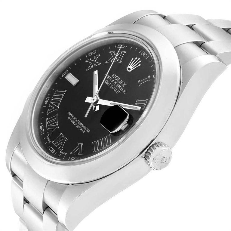 Rolex Datejust II Grey Dial Oyster Bracelet Steel Men's Watch 116300 For Sale 2