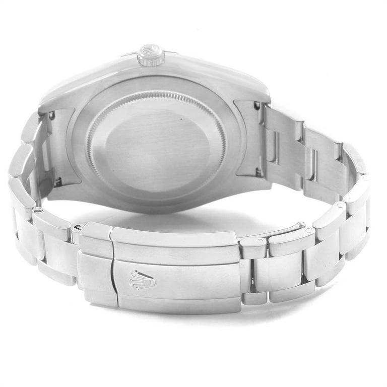 Rolex Datejust II Grey Dial Oyster Bracelet Steel Men's Watch 116300 For Sale 6