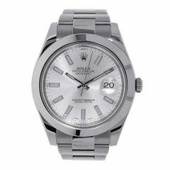 Rolex Datejust II Stainless Steel Silver Index Watch 116300