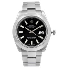 Rolex Datejust II Steel Black Dial Automatic Men's Watch 116300-BKSO