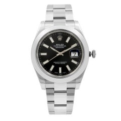 Rolex Datejust II Black Stick Dial Automatic Stainless Steel Men's Watch 116300