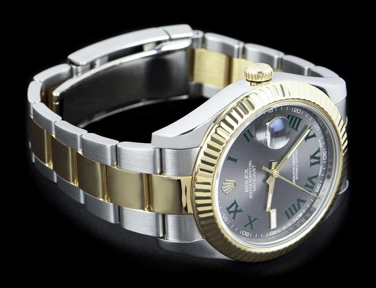 Rolex Datejust II Gents Stainless Steel and 18 Karat Gold Wimbledon Dial 116333 For Sale 1