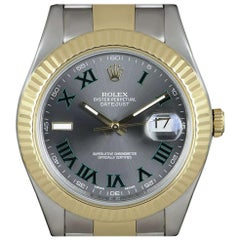 Rolex Datejust II Gents Stainless Steel and 18 Karat Gold Wimbledon Dial 116333