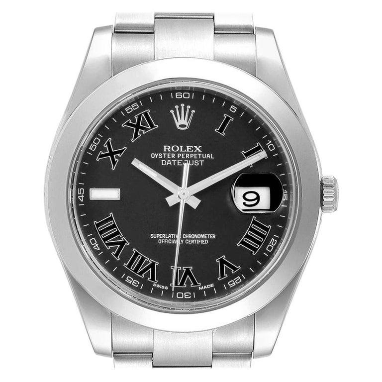 Rolex Datejust II Grey Dial Oyster Bracelet Steel Men's Watch 116300 For Sale