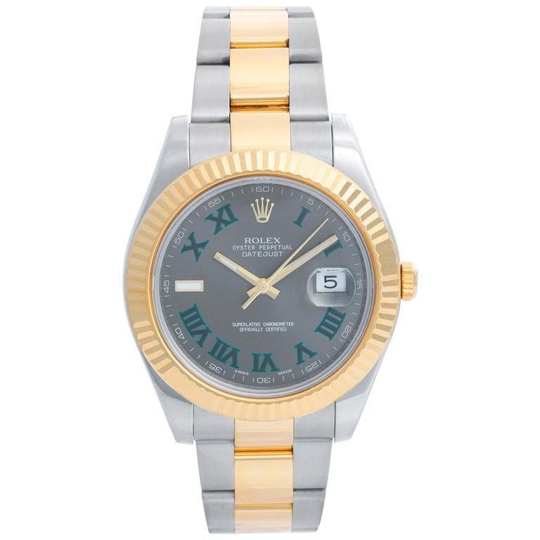 Rolex Datejust II Men's 2-Tone Steel and Gold Watch 116333 For Sale