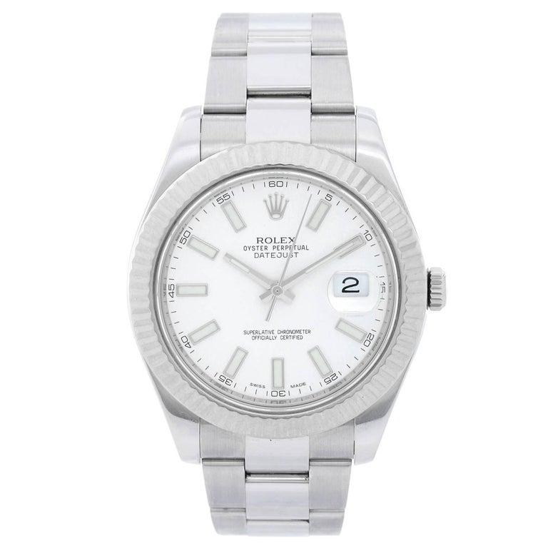 Rolex Stainless Steel Datejust II Automatic Wristwatch Ref 116334