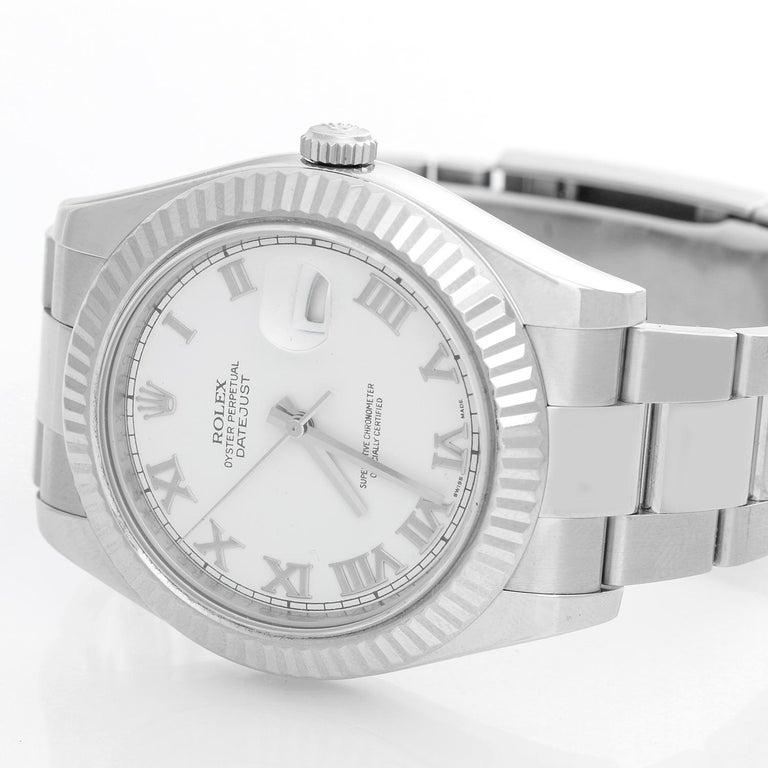 Rolex Datejust II Men #39 s Stainless Steel Watch 116334 For