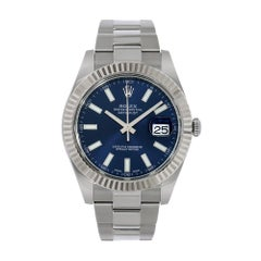 Rolex Datejust II Stainless-Steel Blue Index Dial Watch 116334