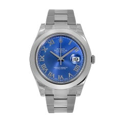 Rolex Datejust II Stainless-Steel Blue Roman Dial Watch 116300