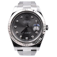 Rolex Datejust II Stainless Steel Fluted Bezel Watch Ref. 116334