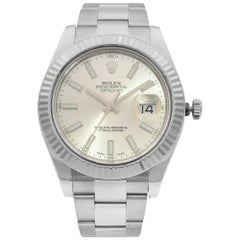Rolex Datejust II Steel 18 Karat Gold Silver Dial Automatic Men's Watch 116334