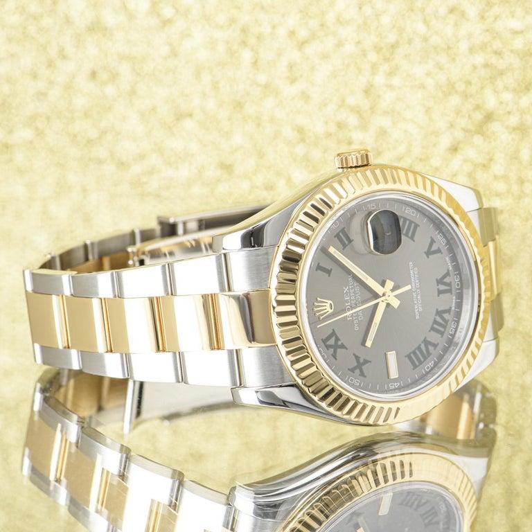 Men's Rolex Datejust II Steel and Gold Wimbledon Dial 116333 Watch