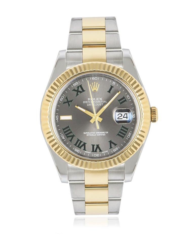 Rolex Datejust II Steel and Gold Wimbledon Dial 116333 Watch 1