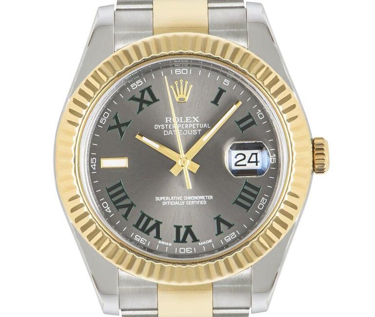 Rolex Datejust II Steel and Gold Wimbledon Dial 116333 Watch 2